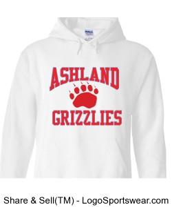 Gilden White Grizzlies Sweatshirt Design Zoom