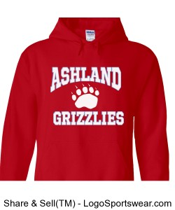Red Ashland Grizzlies Sweatshirt Design Zoom