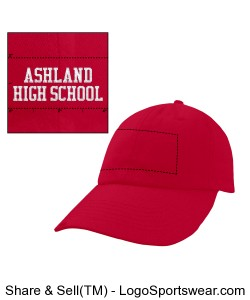 Red Twill cap AHS front/Grizzlies back Design Zoom